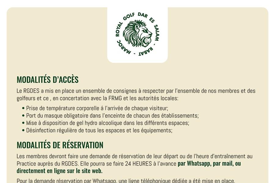 (Français) Modalités d'accès et de Réservation
